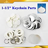 Asc365 Keychain 37mm 1-1/2'' Supplies 100sets for Pro Maker Machine Commerciadiy