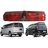 Navinio Car Third Roof top mount brake lamp camera Brake Light Rear View Backup Camera for Express GMC Savana Van
