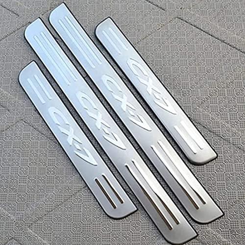 4Pcs Auto Roestvrij Staal Instaplijsten Kick Platen, voor Mazda CX-7 2008-2014 Protector Plaat Pedaal Buitenste Platen…