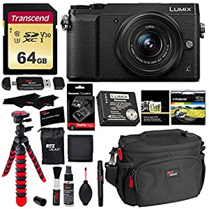 Panasonic GX85 4K Mirrorless Interchangeable Lens LUMIX Camera Kit With 12-32mm Lens, Polaroid Filter, Transcend 64 GB Card, DMW-ZSTRV Lumix Battery & External Charger, Cleaning Kit & Accessory Bundle