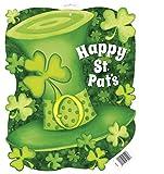 """16.5"""" Paper Cutout Saint Patrick's Day Stripes Decoration"""