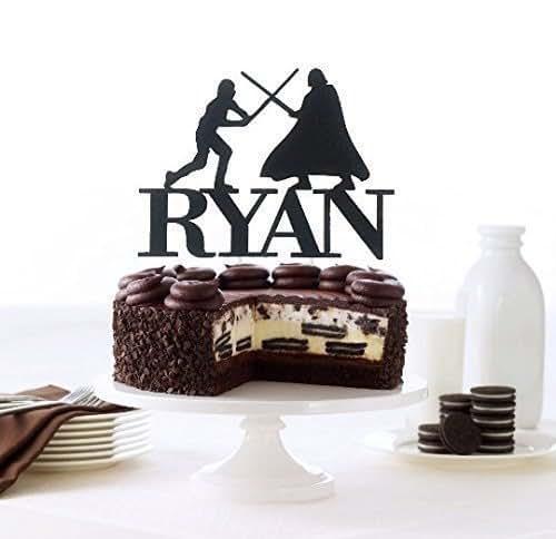 Amazon Com Luke Vs Darth Vader Inspired Cake Topper