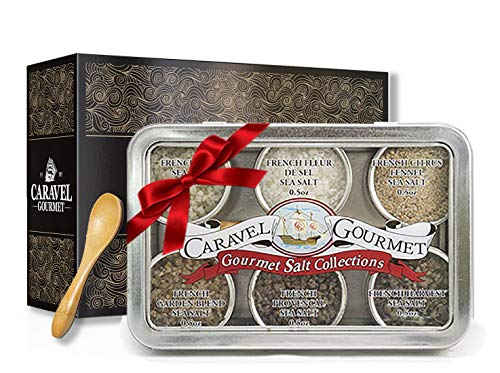 The French Sea Salt Sampler Gourmet Gift Set - 6 Gourmet Salts