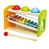 Simba 100002233 Eichhorn Color Wooden Xylophone Hammering Bench