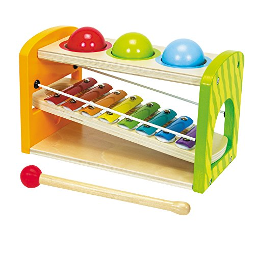 Simba 100002233 Eichhorn Color Wooden Xylophone Hammering Bench by Simba