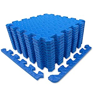 9HORN Exercise Mat/Protective Flooring Mats with EVA Foam Interlocking Tiles and Edge Pieces Suitable for Gym Equipment…