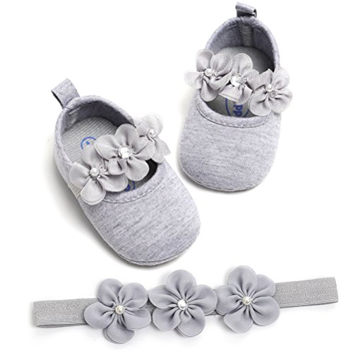 Grigio Fascia Festa 2 Pezzi Speciali Battesimo Anti Neonata Scarpe Fiore Occasioni La Nuziale Morbido Per Scivolo Bambino qtaSn6ax