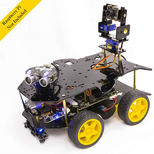 Yahboom Raspberry Pi Robot Kit for 4B / 3B+ Project with HD Camera, Programmable Robotice Truck with 4WD, Electronics Education DIY Set for Adult (Raspberry Pi Not Included)