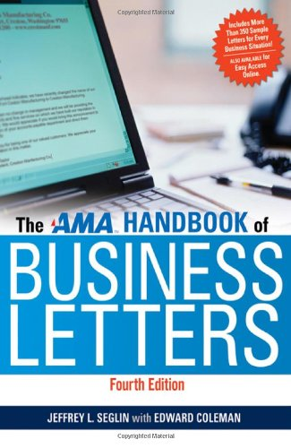 The AMA Handbook of Business - Reference Office Letter