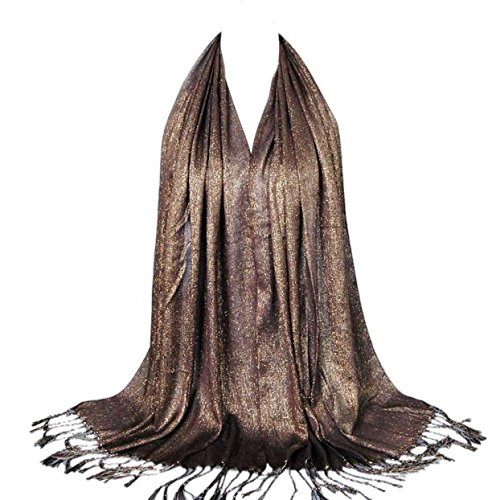 Glittery Shimmer - lookatool Fashion Women Long Soft Cotton Scarf Wrap Ladies Shawl Large Scarves