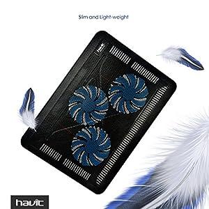 "HAVIT HV-F2056 15.6""-17"" Laptop Cooler Cooling Pad - Slim Portable USB Powered (3 Fans)"
