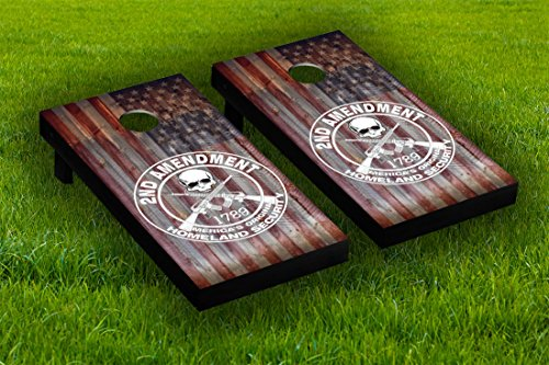 2nd Amendment Cornhole Board Wraps Laminated Sticker Set Skin Decal