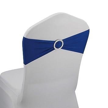Amazon.com: Bandas de Spandex para silla con hebilla, lazos ...