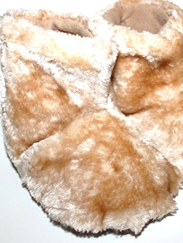 baby-gap-toddler-preschool-faux-fur-bear-paw-bootie-slippers-m-7-8-brown