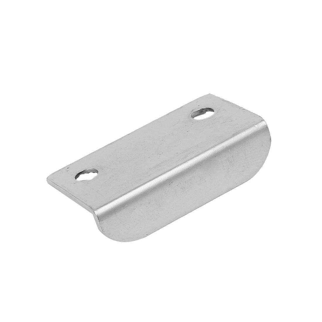 sourcingmap Door Cabinet Clasp Safety Metal Padlock Latch Hasp Staple Silver Tone