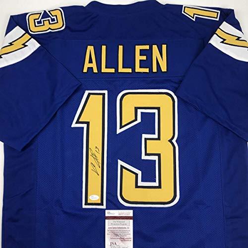 Autographed/Signed Keenan Allen Los Angeles LA Color Rush Blue Football Jersey JSA COA