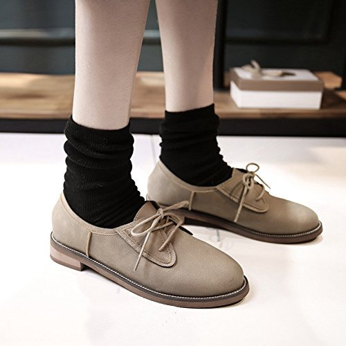 Shoes Western Wingtip Lightweight Color T Shoes Camel Oxfords Slip JULY Womens Low Dress Wedge On 71E1xqTgwZ