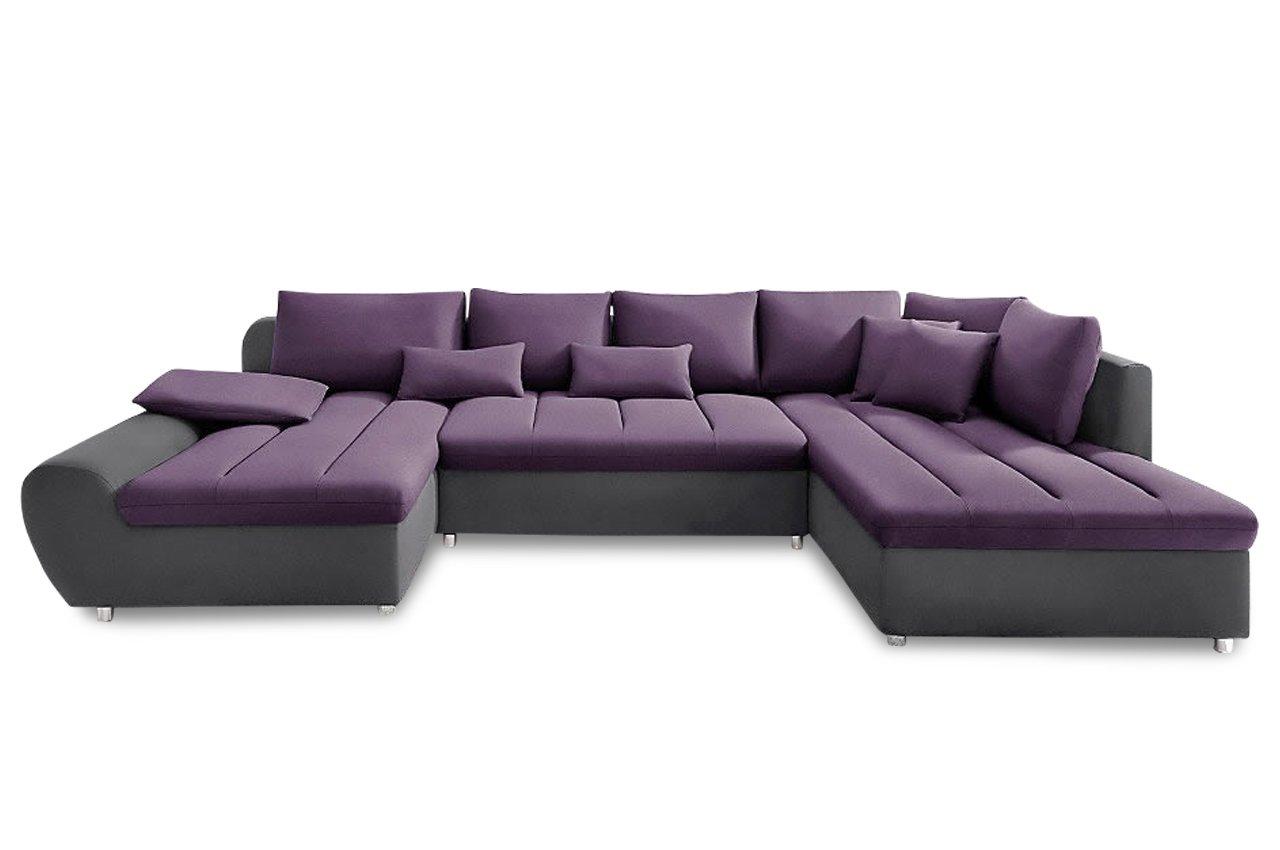Sofa Sit More Wohnlandschaft Bandos Flachgewebe Anthrazit