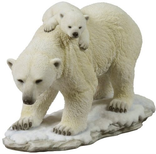 10.63 Inch Polar Bear Cub on The Back of - Polar Bear Family Figurine Shopping Results