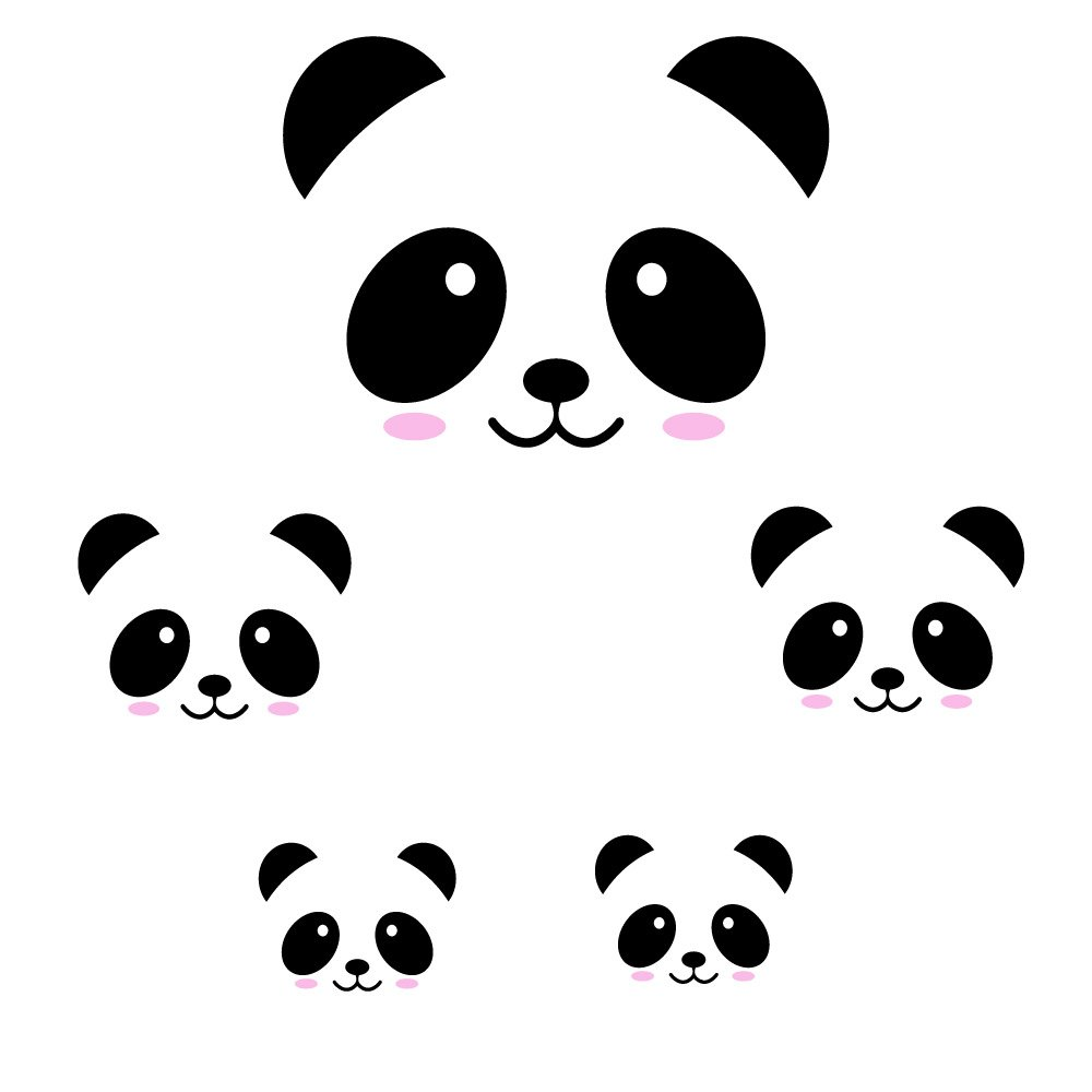 Amazon com panda kawaii wall sticker decal home kitchen