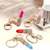 KANG--Rhinestone Crystal Lipstick Keyring Charm Pendant Bag Purse - Best Reviews Guide