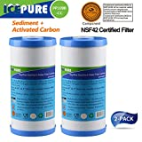 """ICEPURE ICP-PP10BB-CC-2PACK Big Blue Sediment +Carbon Combinated Water Filter 10"""""""
