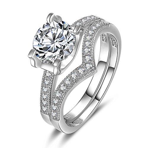 Engagement Sterling Brilliant Zirconia Wedding