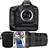 Canon EOS-1D X Mark II DSLR Camera with EF 24-70mm f/2.8L II USM Lens 64GB Bundle 7PC Accessory Kit. Includes 64GB CF Memory Card + 3PC Filter Kit (UV-CPL-FLD) + Mini HDMI Cable + Lens Pouch + Microfiber Cleaning Cloth - International Version (No Warranty)