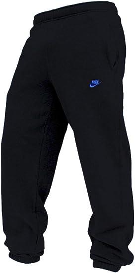 Nike Homme Pant Pantalons Fleece Mens Training Joggers Pant Sweat Pant Tracksuit Bottoms BlackBlue Logo sizes SML XL New 415307 013 (XL)