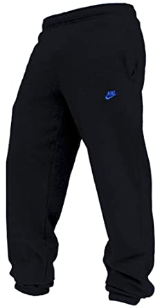 100% original authentic quality fashion style Nike Mens Cuff Fleece Tracksuit Pants/Bottoms - Black/Blue