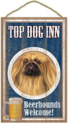 sjt27951-pekingese-top-dog-inn-10-x-16-wood-plaque-sign