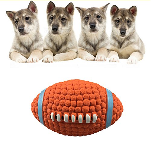 (Glumes Dog Toy Football, Tooth Cleaning Ball for Pet Dogs Puppy Cat Dog Pet Chew Tooth Cleaning Ball Pet Exercise Game Ball IQ Training Ball)
