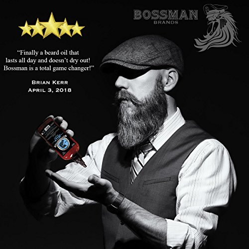 Bossman Beard Oil (4oz) - Eliminates Beard Itch, Bigger Bottle, Thicker Growth, All Natural, American Made, Non Greasy Jelly Beard Oil (Magic Scent)