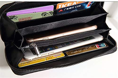 E portamonete Portacellulare Nero pacchetto Cerniera Multi Con Personalità Lunga carta Donna Pochette borsa Di Carte Lostryy Portafogli portafoglio custodia Rombico Colorati cqaWRYnO