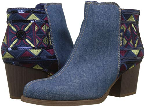 Donna country Blu Stivaletti Wash Shoes exotic 5053 Desigual denim Denim Medium UXHA1