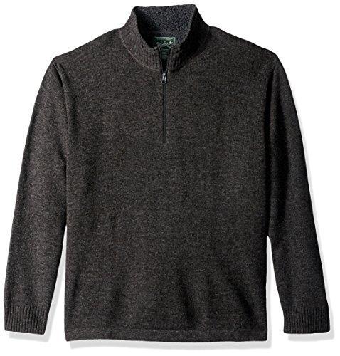 Woolrich Men's Rocky Oaks Lambswool Half Zip Sweater, Charcoal, Small