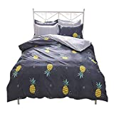 Kpblis Pineapple Bedding Set 4pcs Fruit Print Bedding Sheet Set, Lightweight Soft Comfortable Durable Kids Bedding Collection Modern Brief Style - Full