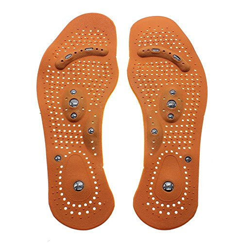 2 Pair Unisex Magnetic Therapy Magnet Health Care Foot Massage Body Massager Insoles Comfort Pads Foot Care Men Women (Small) from Lizipai