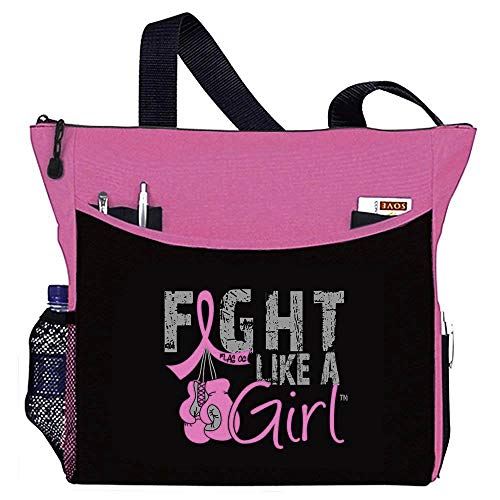 "Fight Like a Girl Boxing Glove Tote Bag""Dakota"" in Pink for Breast Cancer (Assorted Colors)"