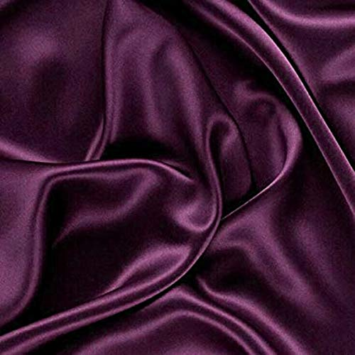 mds Pack of 10 Yard Charmeuse Bridal Solid Satin Fabric for Wedding Dress Fashion Crafts Costumes Decorations Silky Satin 44