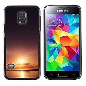 Sun & Sea - Metal de aluminio y de plástico duro Caja del teléfono - Negro - Samsung Galaxy S5 Mini (Not S5), SM-G800