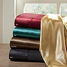 Madison Park Essentials Premier Comfort SHET20-178 Satin 6 Piece Sheet Set, Full, Red