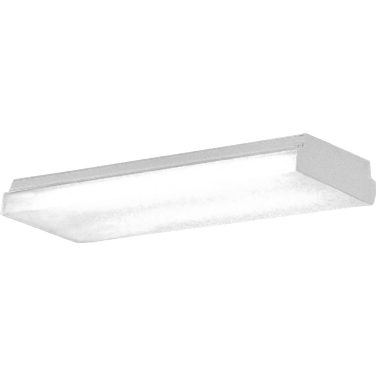 Progress Lighting P7183-30EB Wrap Around with Clear Extruded Acrylic Diffuser and Surface Mounted White Chassis Regressed within Trim, White