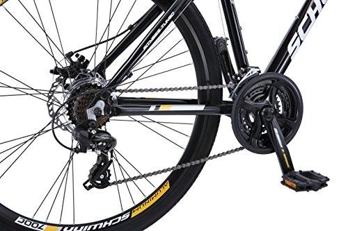 Schwinn Men's GTX Elite Dual Sport Frame 700C Wheel Bicycle, Black, 18/One Size