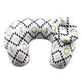 XMCOWAYOU Boppy Pillow 2Pcs Baby Pillows Detachable U-Shaped Maternity Breastfeeding Nursing Support Pillow