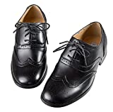 Boys Black Oxford Pattern Lace up Formal Dress Shoes (9 M US Toddler)