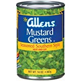 Allen's Mustard Green, 14-Ounce (Pack of 6)