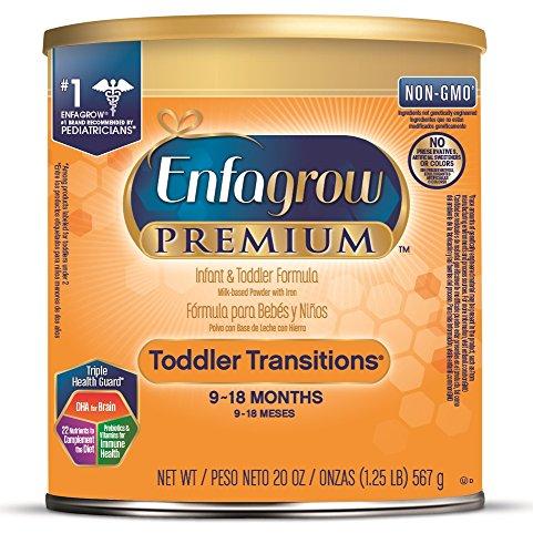 Large Product Image of Enfagrow PREMIUM Non-GMO Toddler Transitions Formula - Powder can, 20 oz