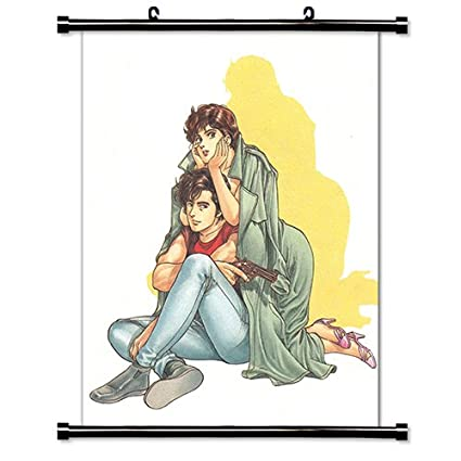 Amazon Com City Hunter Anime Fabric Wall Scroll Poster 32 X 42