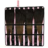 Portable Hair Extension Holder with Flexible Hanger - the All-in-One Storage and Carrying Case for Organizing and Styling Your Clip-In, Tape-In, Human & Synthetic Hair - Great for Travel!